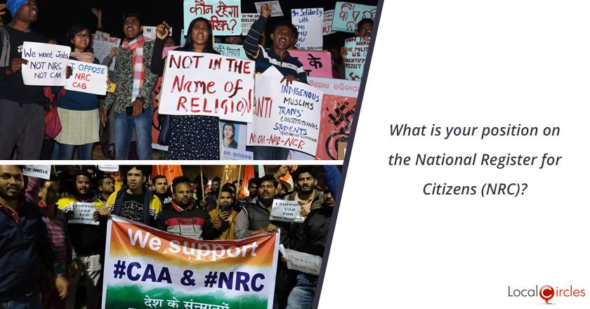 What is your position on the National Register for Citizens (NRC)?