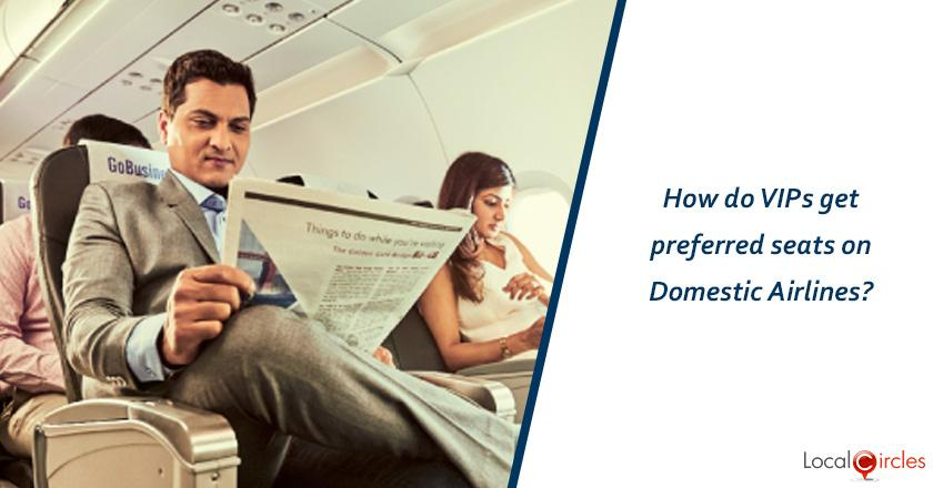 How do VIPs get preferred seats on Domestic Airlines?