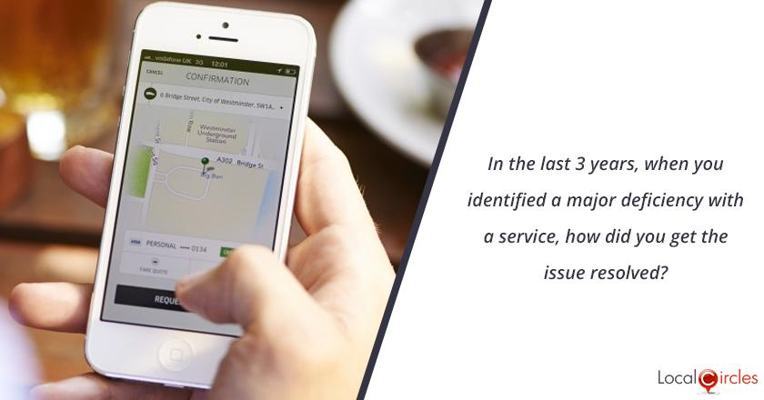 In the last 3 years, when you identified a major deficiency with a service, how did you get the issue resolved?