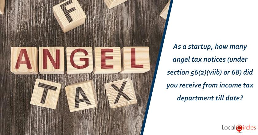 As a startup/entrepreneur, how many angel tax notices (under Section 56(2)(viib) or 68) did you receive from income tax department till date?