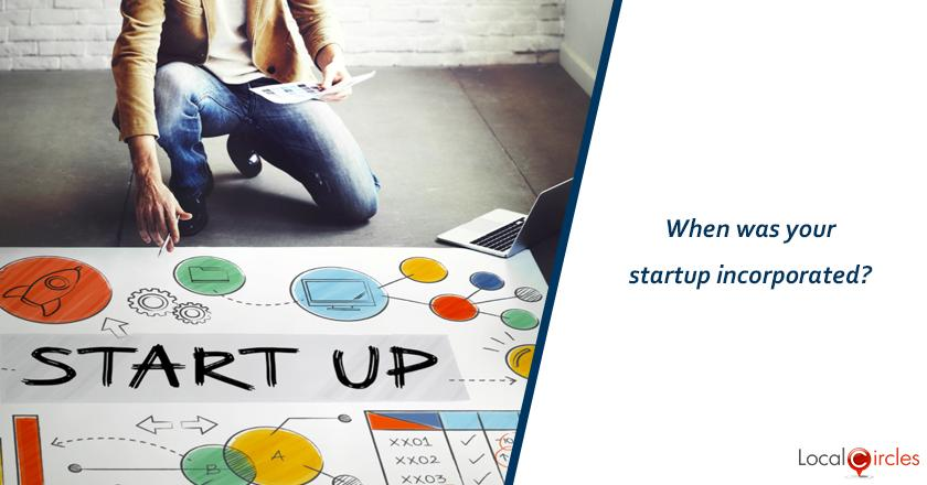 When was your startup incorporated?