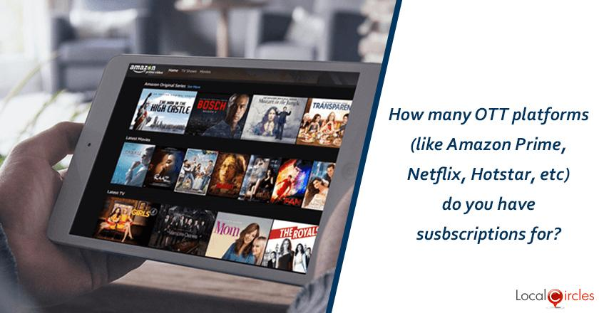 How many OTT platforms (like Amazon Prime, Netflix, Hotstar, etc) do you have subscriptions for?