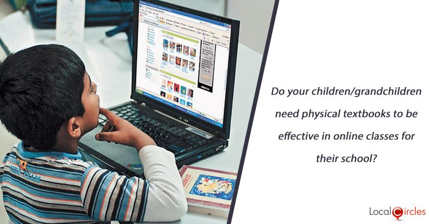 Do your children/grandchildren need physical textbooks to be effective in online classes for their school?