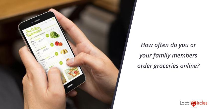How often do you or your family members order groceries online?