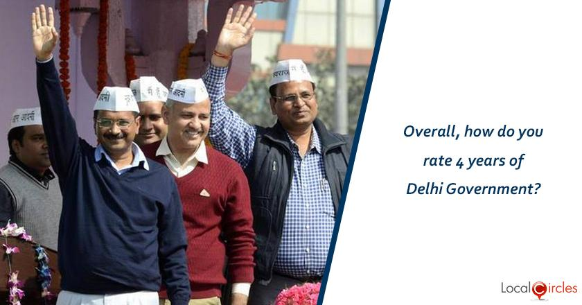 Evaluating 4 years of Kejriwal Government: Overall, how do you rate 4 years of Delhi Government?