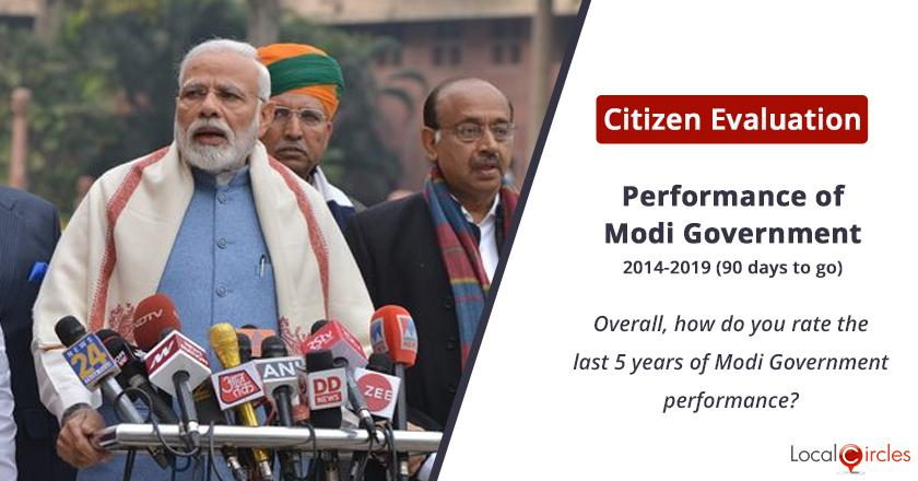 Overall performance of Modi Government: Overall, how do you rate 5 year performance of Modi Government?
