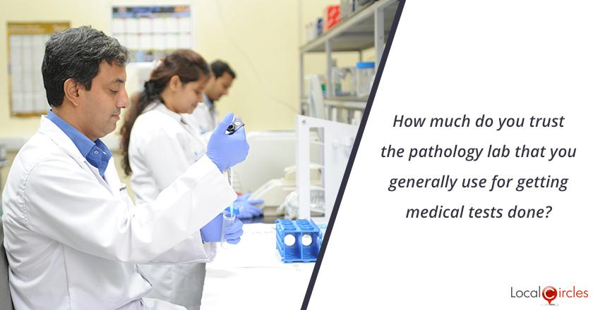 Trust in Pathology Labs: How much do you trust the pathology lab that you generally use for getting medical tests done?