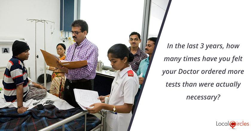 Trust in Pathology Labs: In the last 3 years, how many times have you felt your Doctor ordered more tests than were actually necessary?