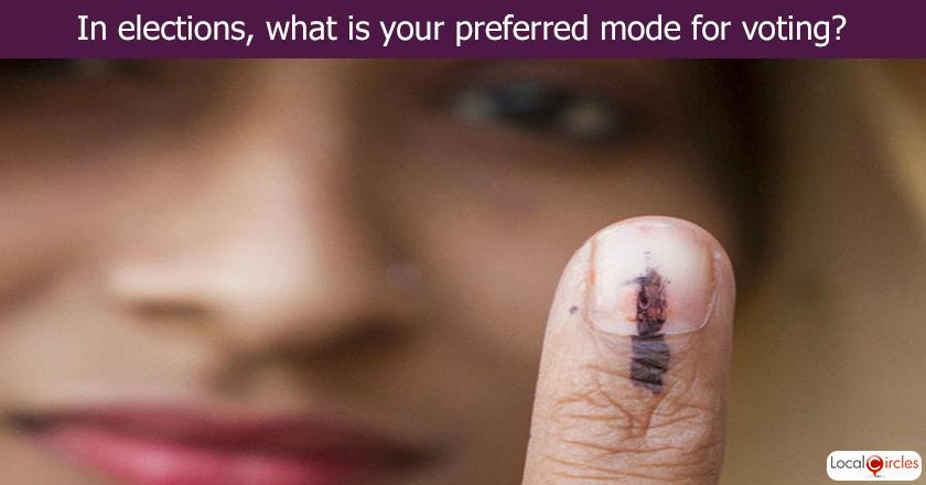 In elections, what is your preferred mode for voting?