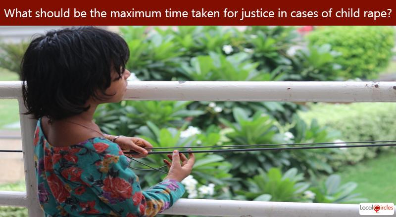 Considering constraints of the Indian legal and judicial system, what should be the maximum time taken for justice in cases of child rape under POCSO act?