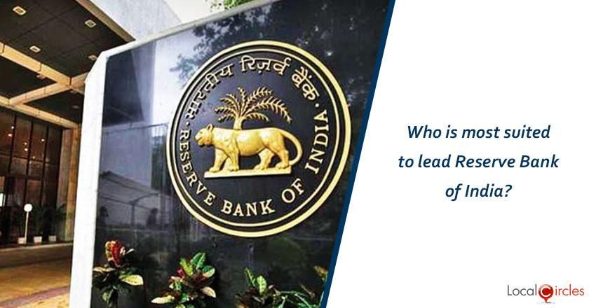 Who is most suited to lead Reserve Bank of India?