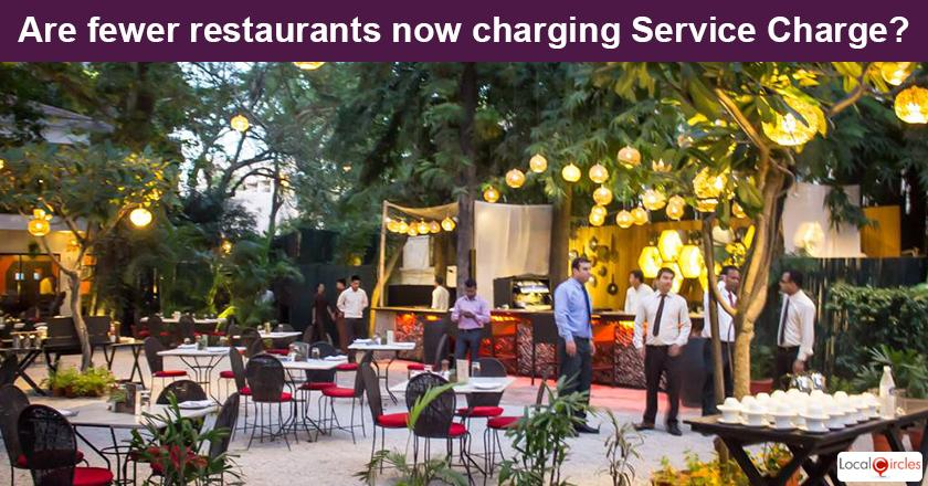 When you visited an air conditioned restaurant in the last few months, what was your common experience with Service Charge