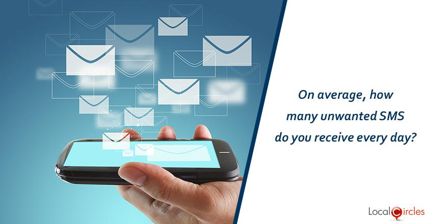 On average, how many unwanted SMS do you receive every day?