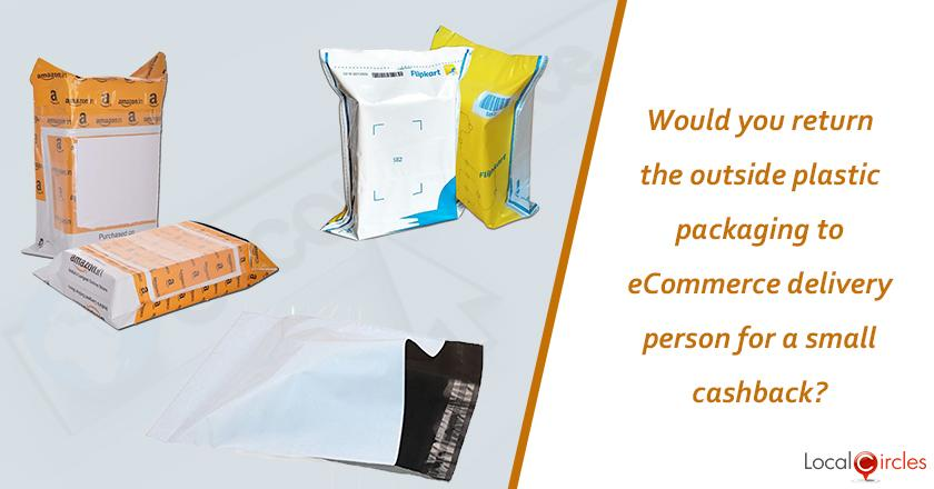 Making eCommerce environment friendly: Would you return the outside plastic packaging of eCommerce provider to the delivery person for a small cashback?
