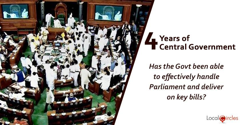 Evaluating 4 years of Central Government: Has the Government been able to effectively handle Parliament and deliver on key bills in the last 4 years?
