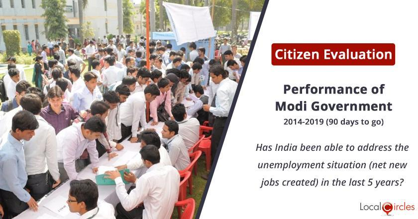 Citizen Evaluation of Modi Government Performance: Has India been able to address the unemployment situation in the last 5 years?