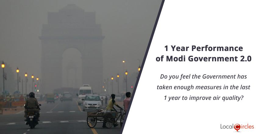 1 Year Performance of Modi Government 2.0: Do you feel the Government has taken enough measures in the last 1 year to improve air quality?