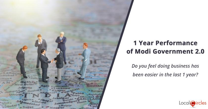 1 Year Performance of Modi Government 2.0: Do you feel doing business has been easier in the last 1 year?