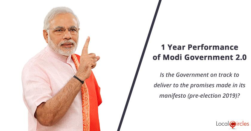1 Year Performance of Modi Government 2.0: Is the Government on track to deliver to the promises made in its manifesto (pre-election 2019)?