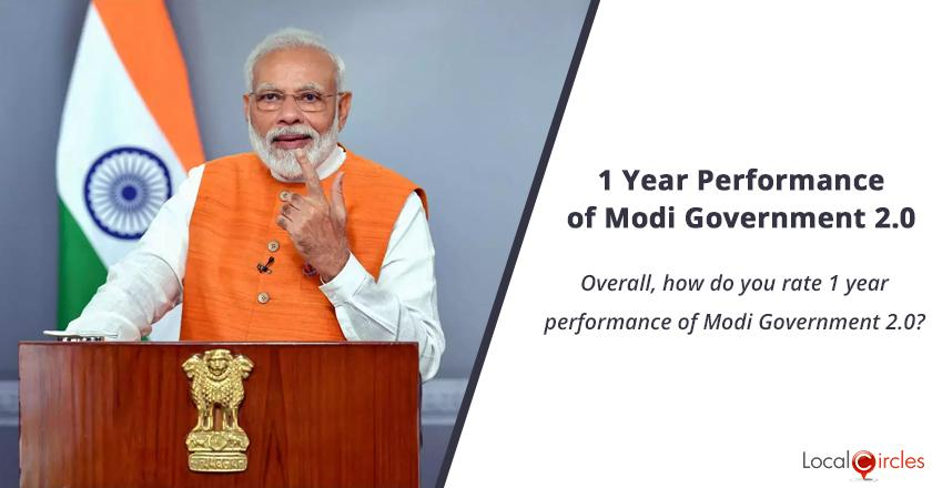 1 Year Performance of Modi Government: Overall, how do you rate 1 year performance of Modi Government 2.0?