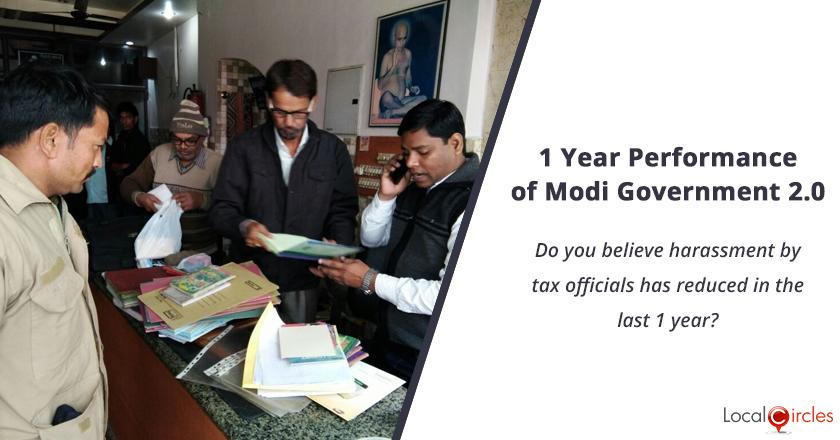 1 Year Performance of Modi Government 2.0: Do you believe harassment by tax officials has reduced in the last 1 year?