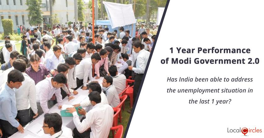 1 Year Performance of Modi Government 2.0: Has India been able to address the unemployment situation in the last 1 year?