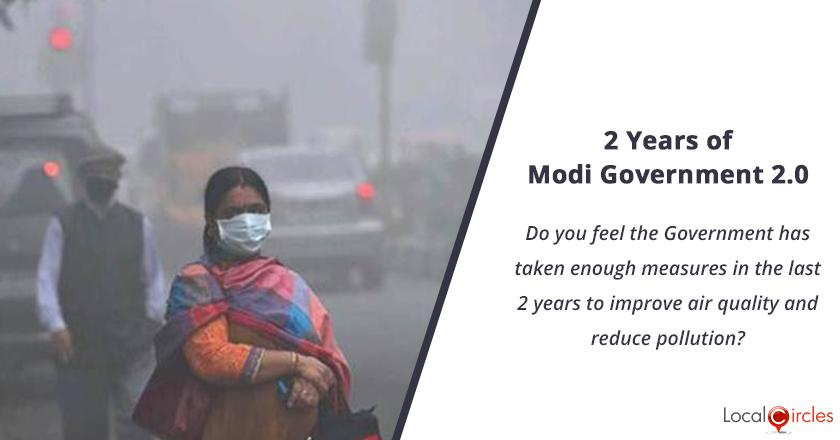 2 years of Modi Government 2.0: Do you feel the Government has taken enough measures in the last 2 years to improve air quality and reduce pollution?