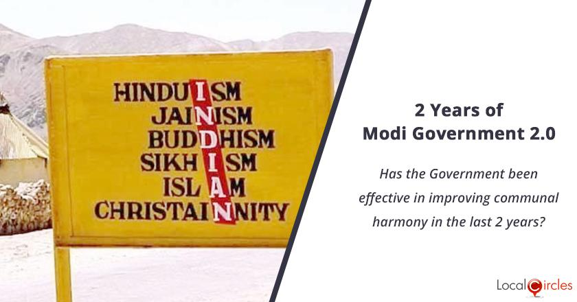 2 years of Modi Government 2.0: Has the Government been effective in improving communal harmony in the last 2 years?