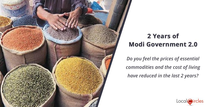 2 years of Modi Government 2.0: Do you feel the prices of essential commodities and the cost of living have reduced in the last 2 years?