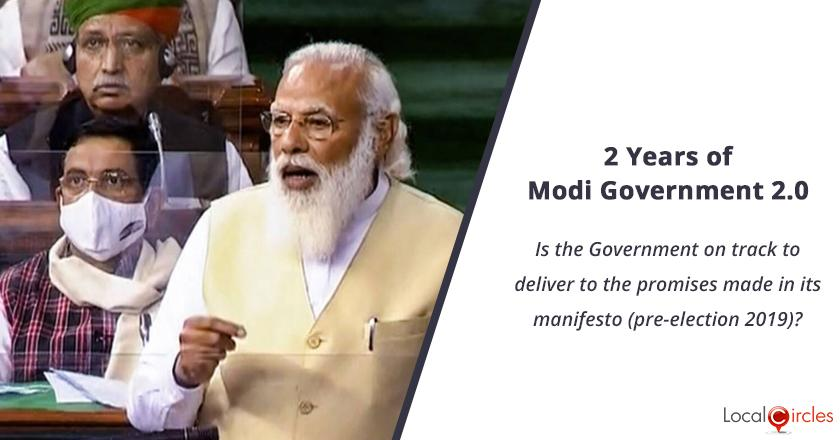 2 years of Modi Government 2.0: Is the Government on track to deliver to the promises made in its manifesto (pre-election 2019)?