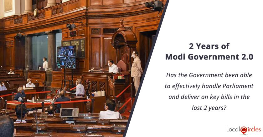 2 years of Modi Government 2.0: Has the Government been able to effectively handle Parliament and deliver on key bills in the last 2 years?