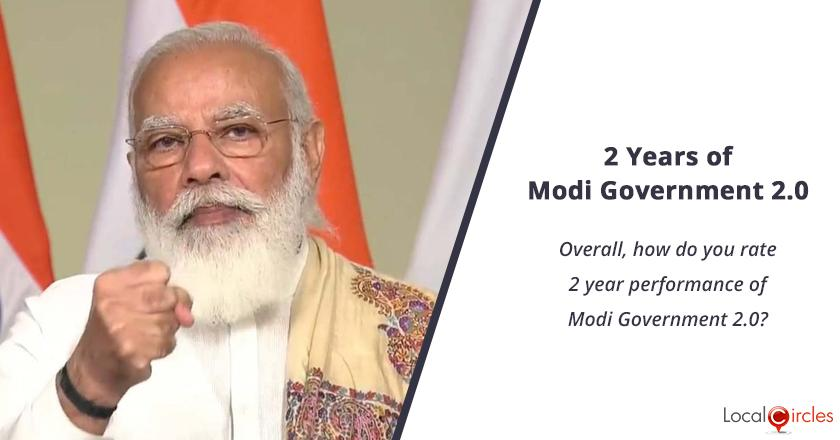 2 years of Modi Government 2.0: Overall, how do you rate 2 year performance of Modi Government 2.0?