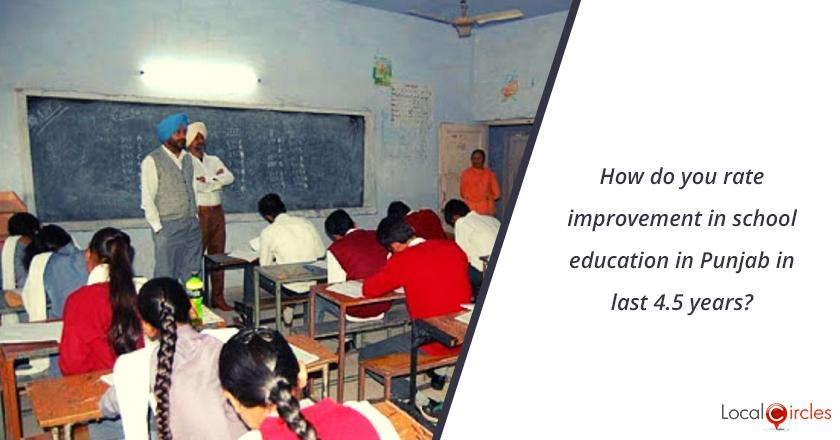 4.5 years of Punjab Government: How do you rate improvement in school education in Punjab in last 4.5 years? <br/> <br/>Kindly consider key parameters as availability, affordability and quality.