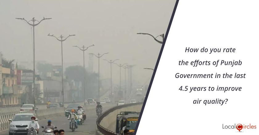 4.5 years of Punjab Government: How do you rate the efforts of Punjab Government in the last 4.5 years to improve air quality?