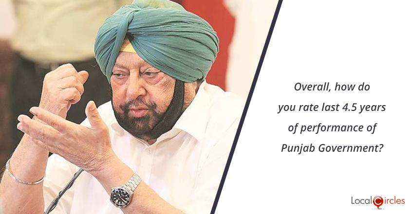 4.5 years of Punjab Government: Overall, how do you rate last 4.5 years of performance of Punjab Government?