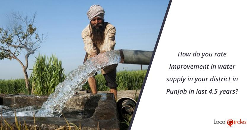4.5 years of Punjab Government: How do you rate improvement in water supply in your district in Punjab in last 4.5 years? <br/> <br/>Kindly consider key parameters as availability, billing accuracy and quality.