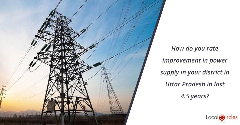 How do you rate improvement in power supply in your district in Uttar Pradesh in last 4.5 years? <br/> <br/>Kindly consider key parameters as availability, affordability and customer service.