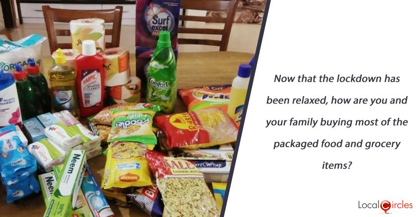 Now that the lockdown has been relaxed, how are you and your family buying most of the packaged food and grocery items?