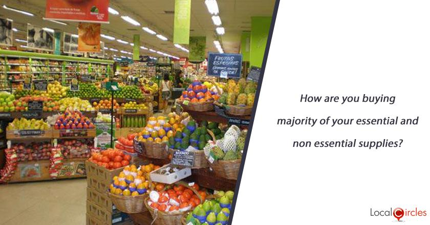 How are you currently buying majority of your essential and non essential supplies?