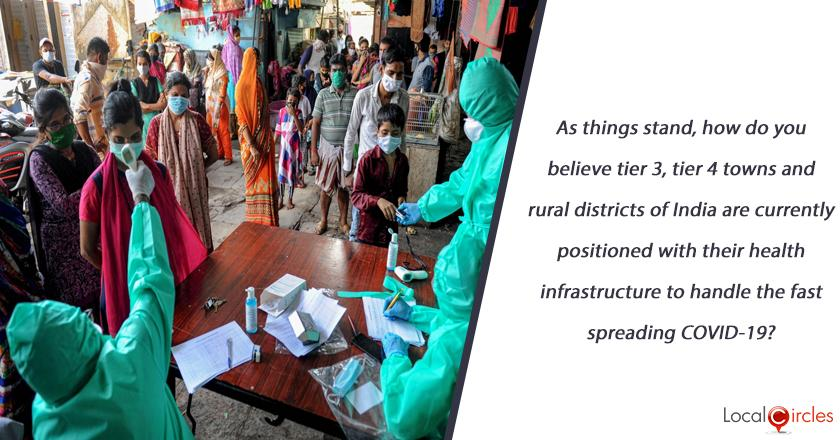 As things stand, how do you believe tier 3, tier 4 towns and rural districts of India are currently positioned with their health infrastructure to handle the fast spreading COVID-19?