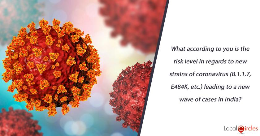What according to you is the risk level in regards to new strains of coronavirus (B.1.1.7, E484K, etc.) leading to a new wave of cases in India?