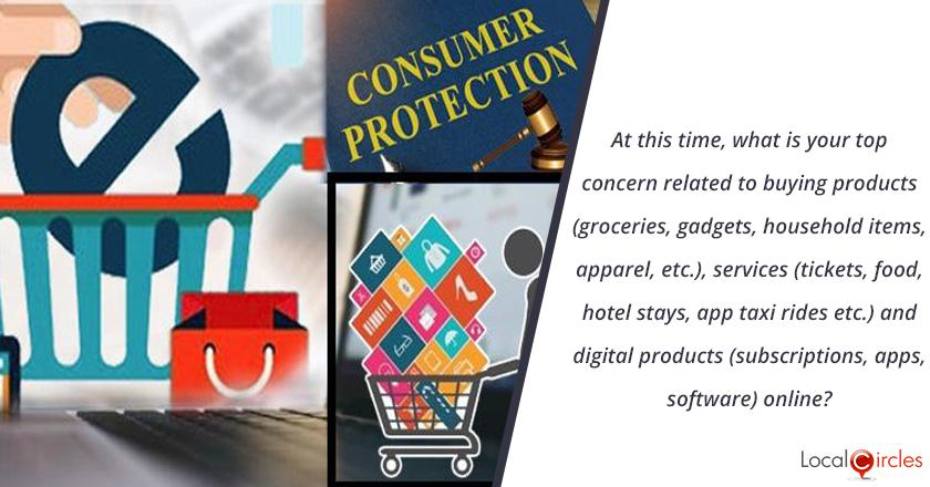 At this time, what is your top concern related to buying products (groceries, gadgets, household items, apparel, etc.), services (tickets, food, hotel stays, app taxi rides etc.) and digital products (subscriptions, apps, software) online?