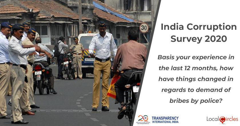 India Corruption Survey 2020: Basis your experience in the last 12 months, how have things changed in regards to demand of bribes by police?