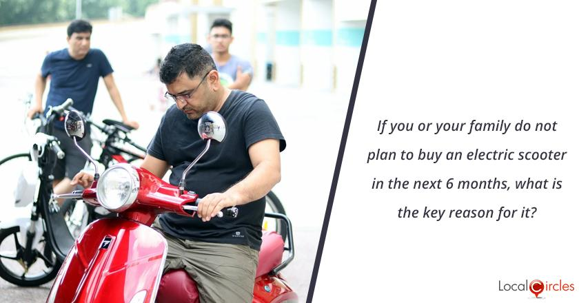 If you or your family do not plan to buy an electric scooter in the next 6 months, what is the key reason for it?