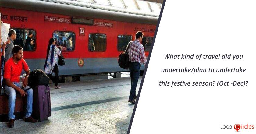 What kind of travel did you undertake/plan to undertake this festive season? (Oct -Dec)?