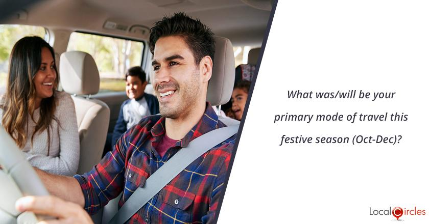 What was/will be your primary mode of travel this festive season (Oct-Dec)?