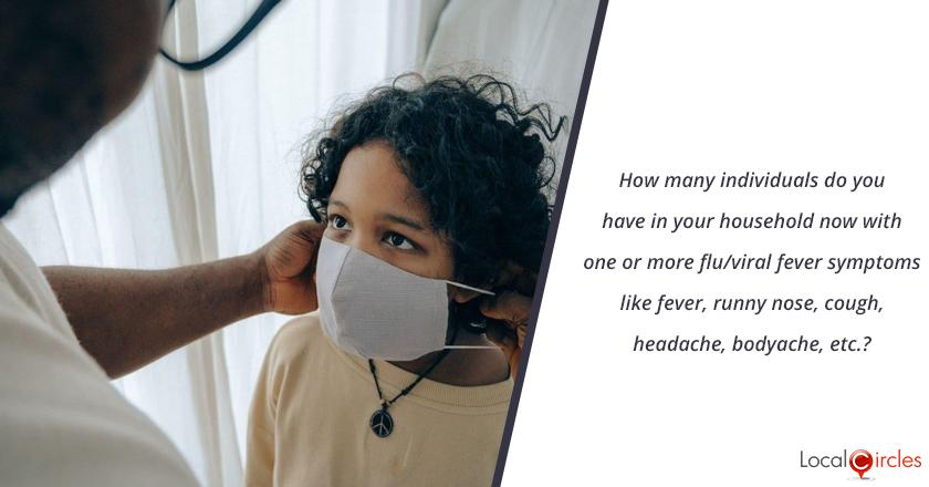 How many individuals do you have in your household now with one or more flu/viral fever symptoms like fever, runny nose, cough, headache, bodyache, etc.?
