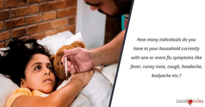 How many individuals do you have in your household currently with one or more flu symptoms like fever, runny nose, cough, headache, bodyache etc.?