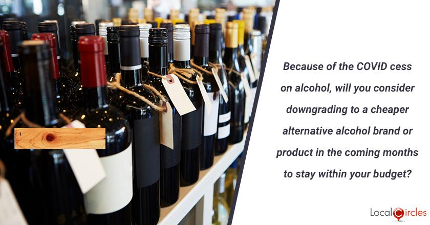 Because of the COVID cess introduced by Government of Rajasthan on alcohol, will you consider downgrading to a cheaper alternative alcohol brand or product in the coming months to stay within your budget? (You should only answer this question if you are 18 or above in age)