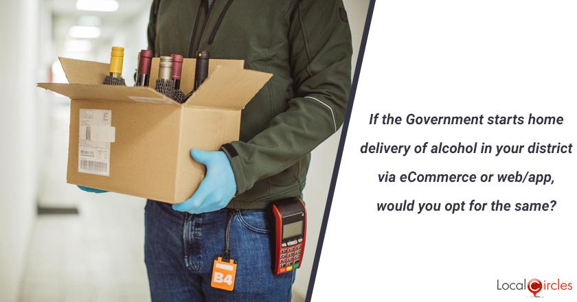 If the Government of Telangana starts home delivery of liquor in your district via eCommerce or web/app would you opt for the same? (You should only answer this question if you are 21 or above in age)